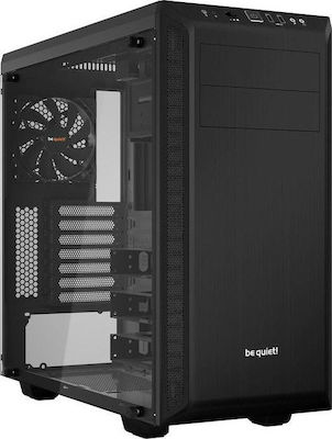 BEQUIET PC CHASSIS PURE BASE 600 WINDOW BGW21, MIDI TOWER ATX, BLACK, W/O PSU, 1X14CM PURE WINGS 2 FAN, 1X12CM REAR PURE WINGS 2 FAN, 3YW.  1