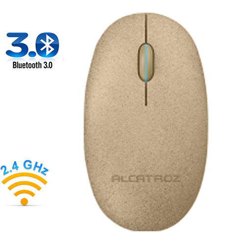 ALCATROZ BLUETOOTH 3.0/WIRELESS 2.4G MOUSE PEBBLE AIR DESERT
