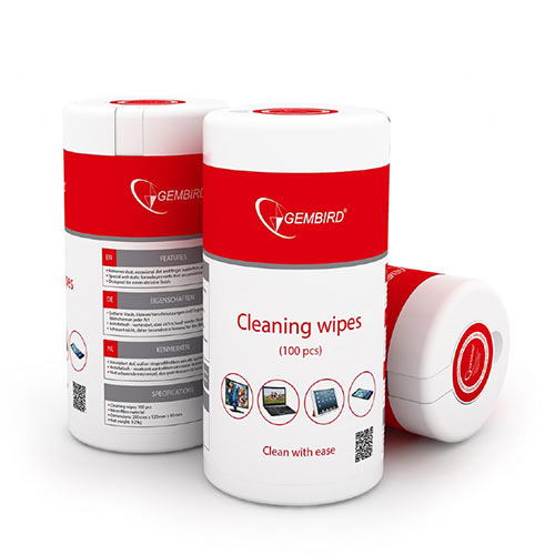 GEMBIRD CLEANING WIPES 100PCS