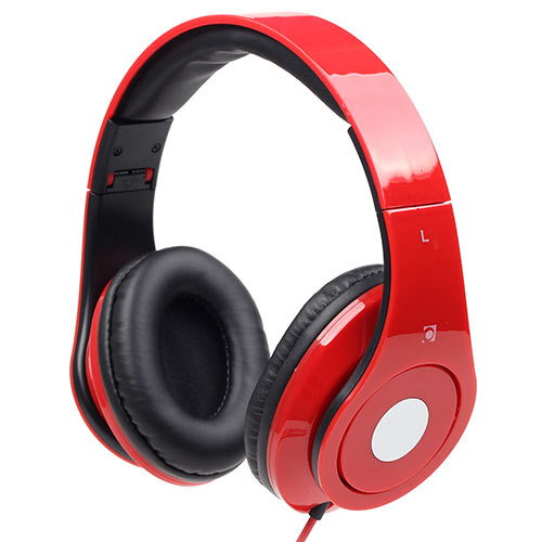 GEMBIRD FOLDING STEREO HEADPHONES WITH MIC DETROIT RED