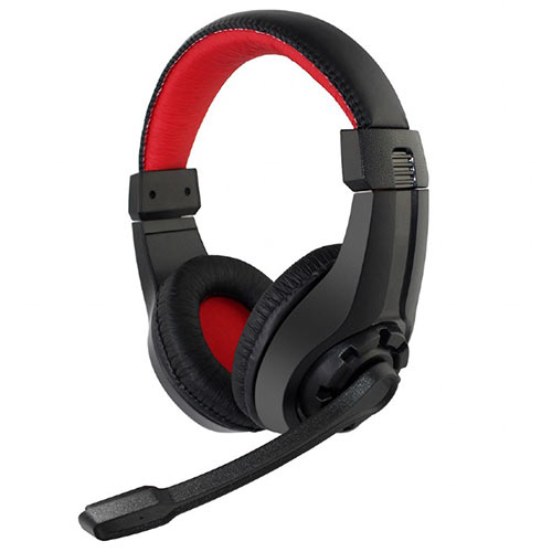 GEMBIRD GAMING HEADSET WITH VOLUME CONTROL BLACK/RED