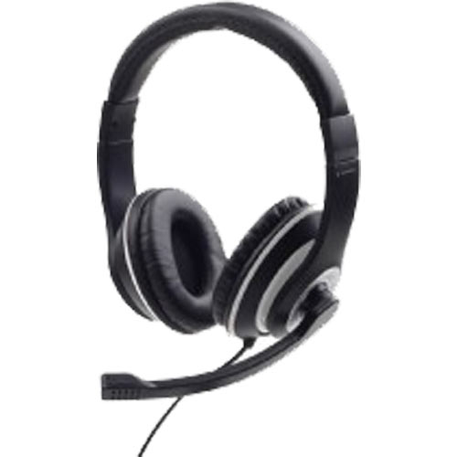 GEMBIRD JACK STEREO HEADSET BLACK WITH WHITE RING