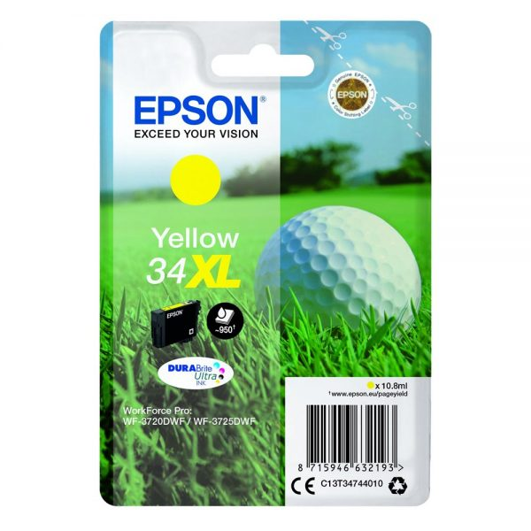 Epson Μελάνι Inkjet No.34XL Yellow (C13T34744010) (EPST347440) 0002935 epson inkjet no34xl yellow c13t34744010 0 1