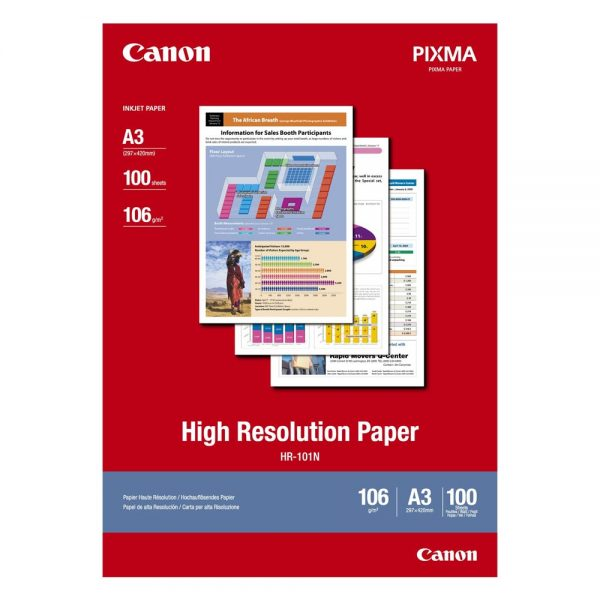 High Resolution Paper CANON A3 106g/m² 100 Φύλλα (1033A005) (CAN-HR-101A3) 0004274 high resolution paper canon a3 110gm 100 1033a005 0 1