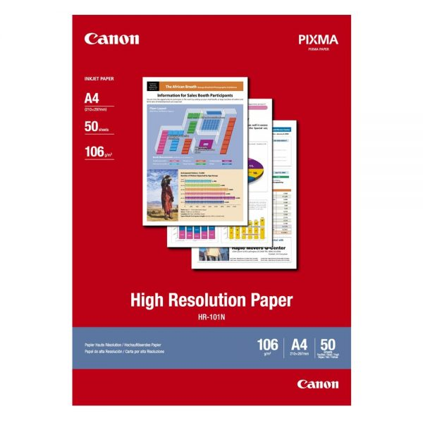 High Resolution Paper CANON A4 106g/m² 50 Φύλλα (1033A002) (CAN-HR-101A450) 0004275 high resolution paper canon a4 110gm 50 1033a002 0 1