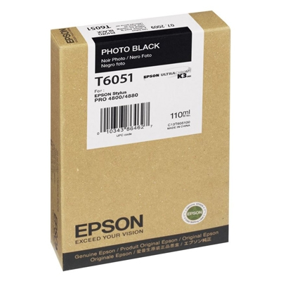 Epson Μελάνι Inkjet T6051 Photo Black (C13T605100) (EPST605100) 0004872 epson inkjet t6051 photo black c13t605100 0 1