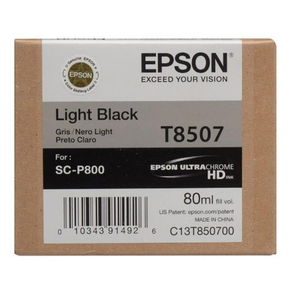 Epson Μελάνι Inkjet T8507 Light Black (EPST850700) 0004900 epson inkjet t8507 light black 0 1