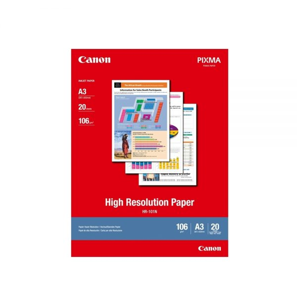 High Resolution Paper CANON A3 106g/m² 20 Φύλλα (1033A006AB) (CAN-HR-101-A3) 0021856 high resolution paper canon a3 110gm 20 1033a006ab can hr 101 a3 0 1