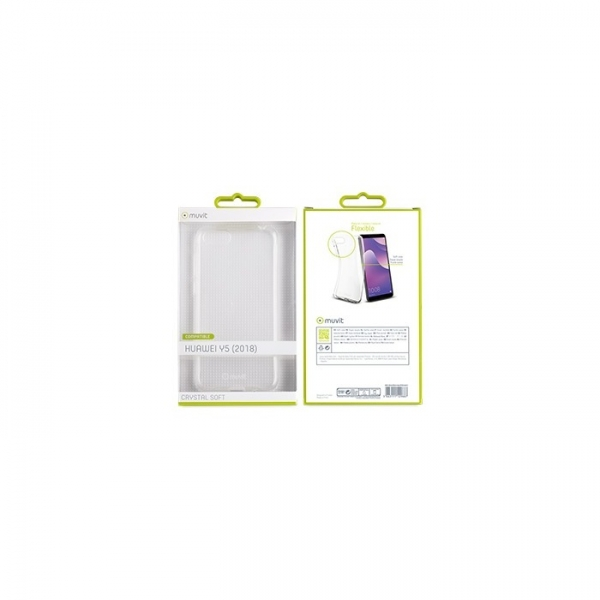 MUVIT TPU CRYSTAL SOFT HUAWEI Y5 2019 trans backcover