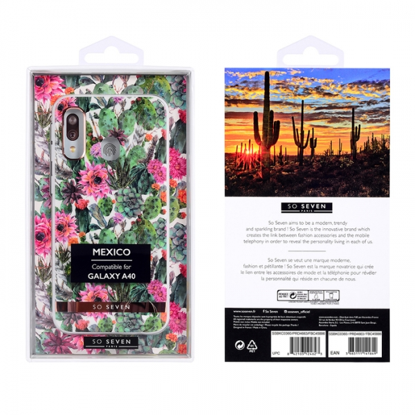 SO SEVEN MEXICO PINK FLOWER HUAWEI P30 backcover