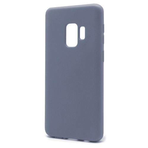 Θήκη Liquid Silicon inos Samsung G960F Galaxy S9 L-Cover Γκρι-Μπλε