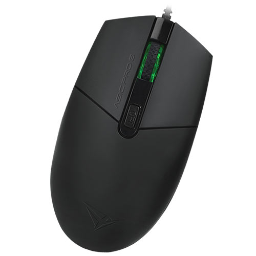 ALCATROZ WIRED HIGH SPEED BLUE RAY 4 BUTTON MOUSE ASIC PRO 8 BLACK