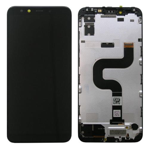 LCD with Touch Screen Xiaomi Mi A2/ Mi 6X with Frame Black (OEM)