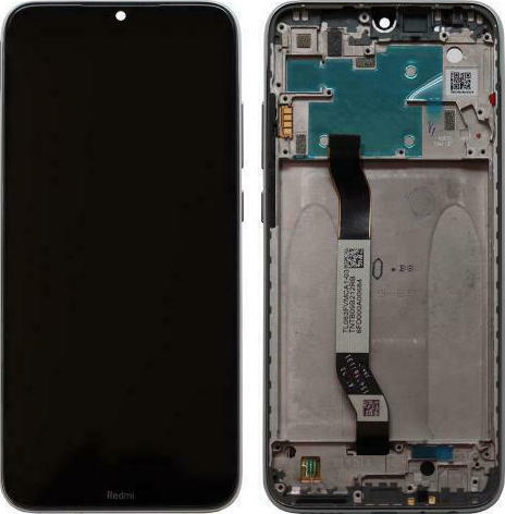 LCD with Middle Plate Xiaomi Redmi Note 8 Moonlight White (Original) με Μεσαίο Πλαίσιο Xiaomi Redmi Note 8 Λευκό Original 1
