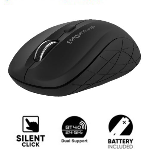 ALCATROZ BLUETOOTH 3.0/WIRELESS MOUSE DUO 3 SILENT BLACK