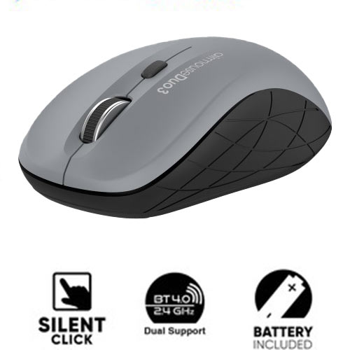 ALCATROZ BLUETOOTH 3.0/WIRELESS MOUSE DUO 3 SILENT GRAY