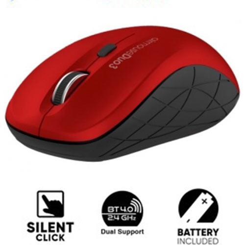 ALCATROZ BLUETOOTH 3.0/WIRELESS MOUSE DUO 3 SILENT RED