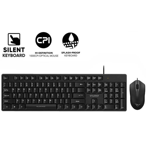 ALCATROZ USB WIRED SILENT COMBO KEYBOARD AND MOUSE XPLORER C3300