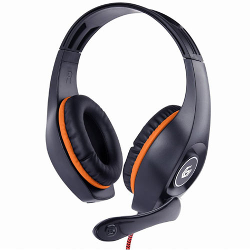 GEMBIRD GAMING HEADSET WITH VOLUME CONTROL PC/PS4 ORANGE-BLACK