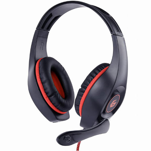 GEMBIRD GAMING HEADSET WITH VOLUME CONTROL PC/PS4 RED-BLACK