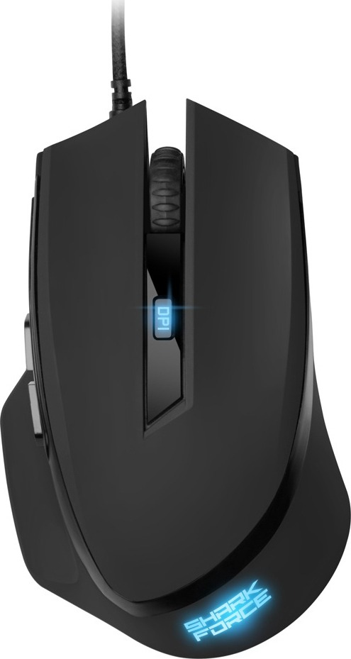 SHARKOON GAMING MOUSE SHARK FORCE II, WIRED, USB, OPTICAL, GAMING, BLACK, 2YW. SHARKOON GAMING MOUSE SHARK FORCE II WIRED USB OPTICAL GAMING BLACK 2YW. 1