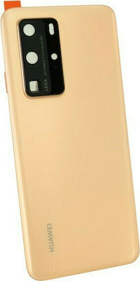 Battery Cover Huawei P40 Pro Gold (OEM) Καπάκι Μπαταρίας Huawei P40 Pro Χρυσό OEM 1
