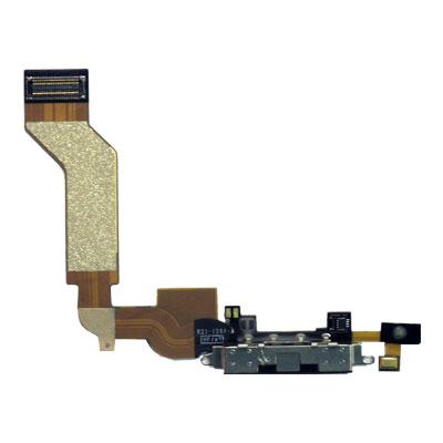 Flex Cable Apple iPhone 4S with Plugin Connector & Microphone Black (OEM)