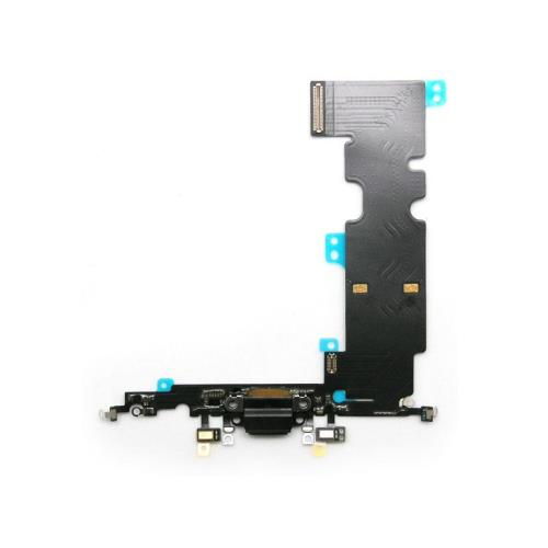 Flex Cable Apple iPhone 8 Plus with Plugin Connector & Microphone Black (OEM)