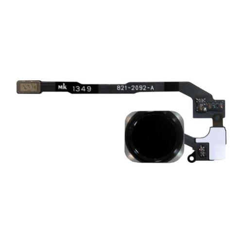 Home Button Flex Cable with External Home Button Apple iPhone 5S/ iPhone SE Black (OEM)