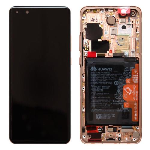 LCD with Middle Plate and Battery Huawei P40 Pro Blush Gold (Original)