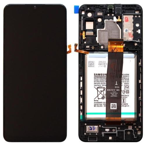 LCD with Touch Screen & Front Cover Samsung A326F Galaxy A32 5G Phantom Black (Original)