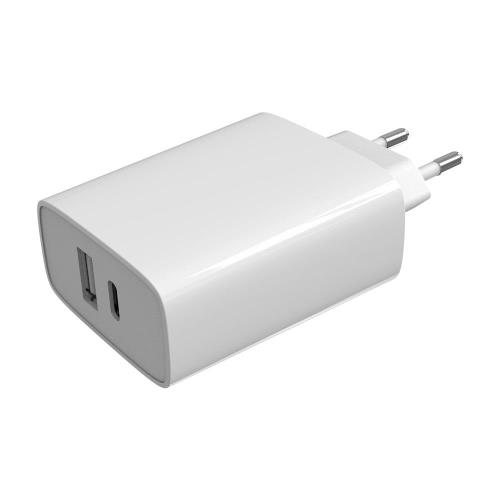 Travel Fast Charger inos with USB A & USB C Output PD 3.0 32W White