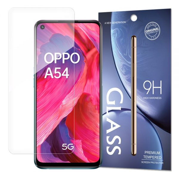 Tempered Glass 9H Screen Protector for Oppo A54 5G (packaging – envelope)