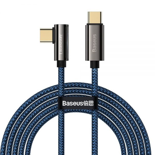 Baseus Legend Series Elbow Fast Charging Data Cable Type-C to Type-C 100W 2m Blue