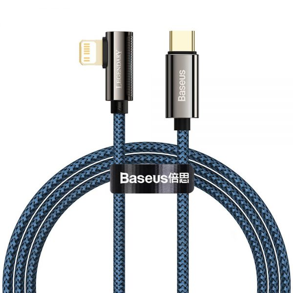 Baseus Legend Series Elbow Fast Charging Data Cable Type-C to iP PD 20W 1m Blue