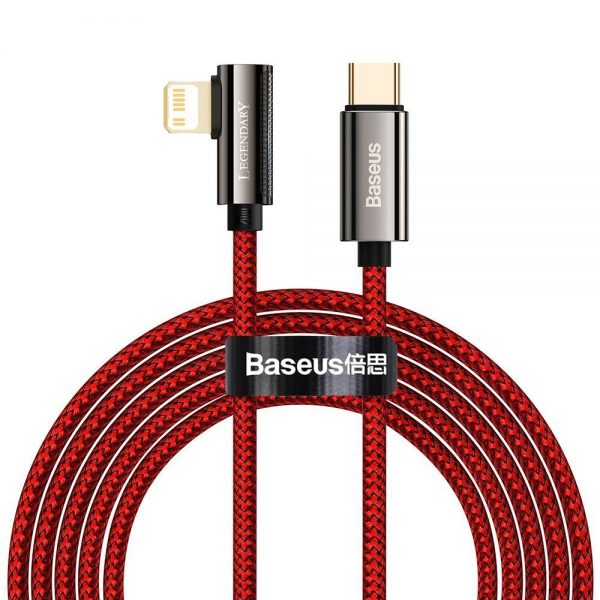 Baseus Legend Series Elbow Fast Charging Data Cable Type-C to iP PD 20W 2m Red