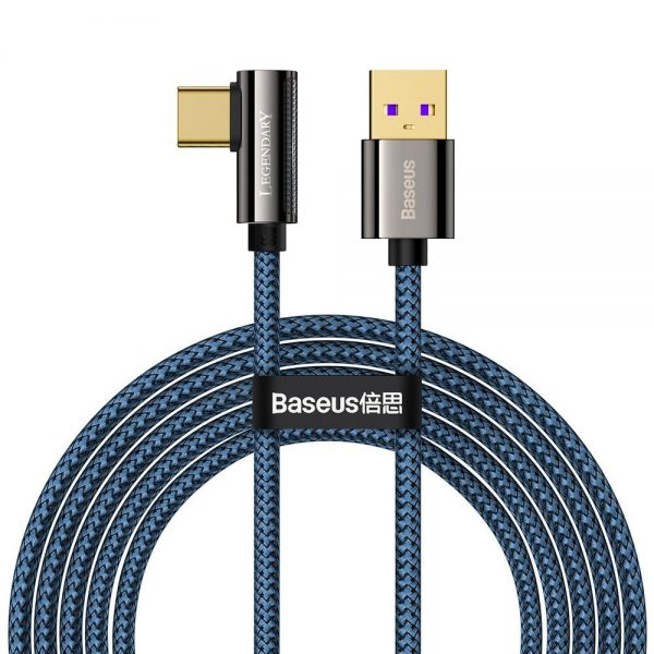 Baseus Legend Series Elbow Fast Charging Data Cable USB to Type-C 66W 2m Blue
