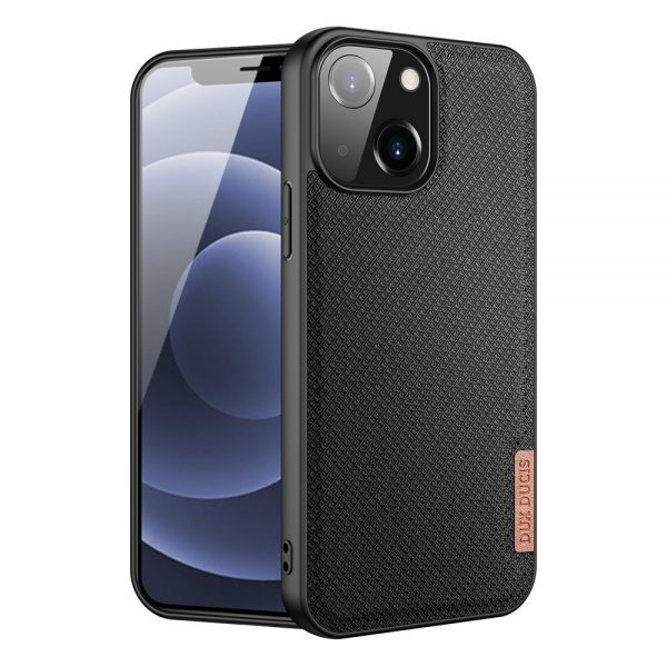 Dux Ducis Fino case covered with nylon material for iPhone 13 black