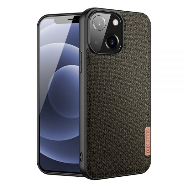 Dux Ducis Fino case covered with nylon material for iPhone 13 green