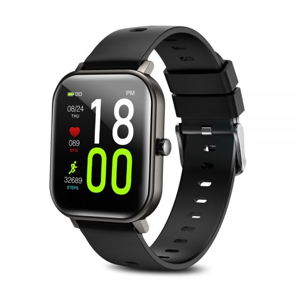 Joyroom JR-FT1 Pro Smartwatch(With 20mm Silicone Black Strap) Gray